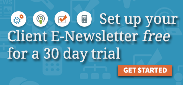 Set up your client e-newsletter free for a 30-day trial